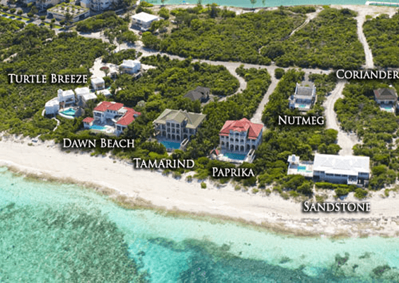 maps of our vacation rentals in turks and caicos | tc villas