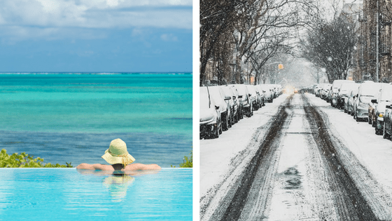 Warm weather vs Cold weather