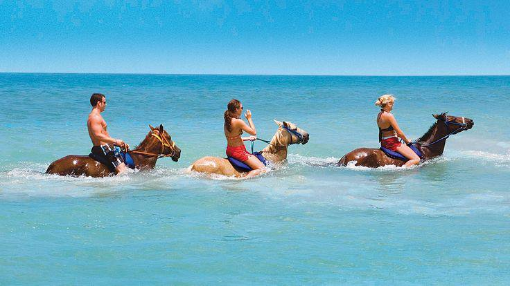 Horseback Riding in the Water of Turks and Caicos