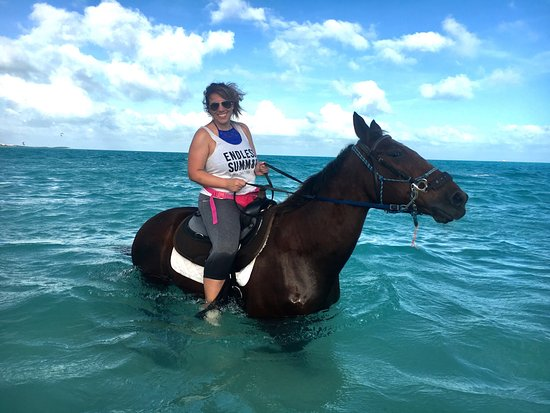 Horseback riding along the beach Providenciales Turks and Caicos