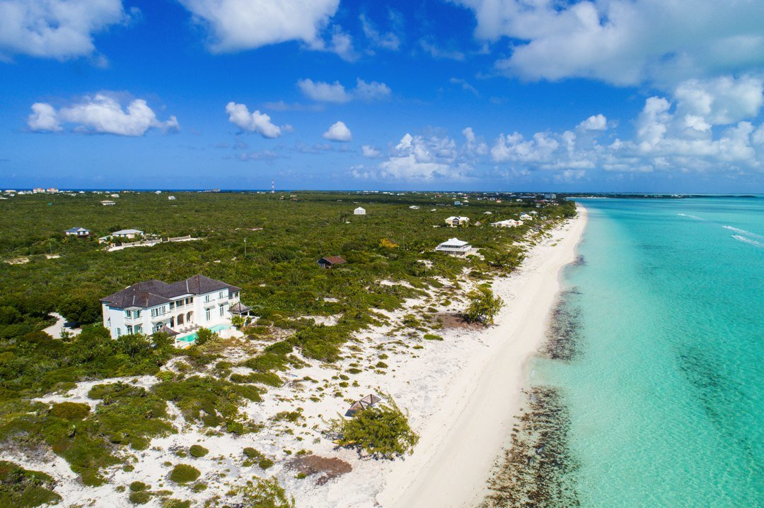 Long Bay House Beachfront On Beach Providenciales Turks And Caicos