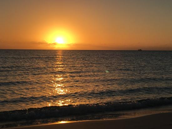Taylor Bay Beach Sunset in the Turks and Caicos