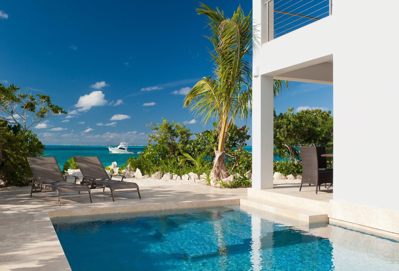 Water Edge Villa Pool in Providenciales