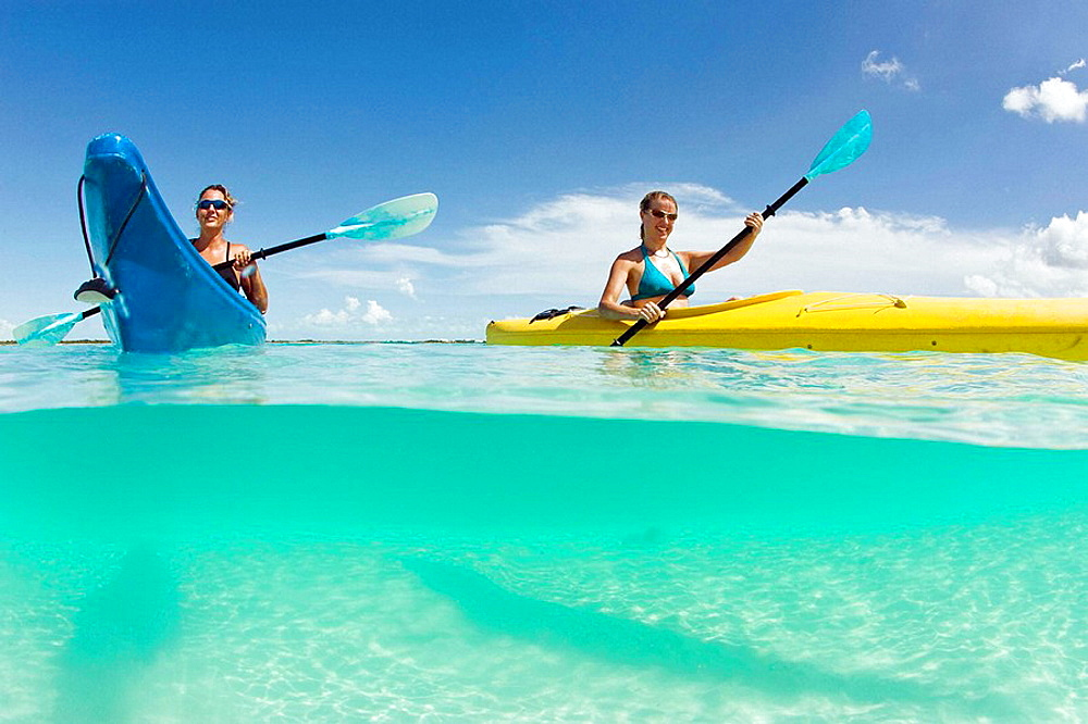 Kayak tour to Little Water Cay, off Providenciales, Turks and Caicos