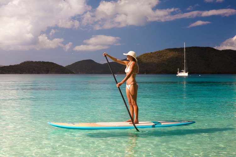 Standup paddleboarding in Providenciales Turks and Caicos