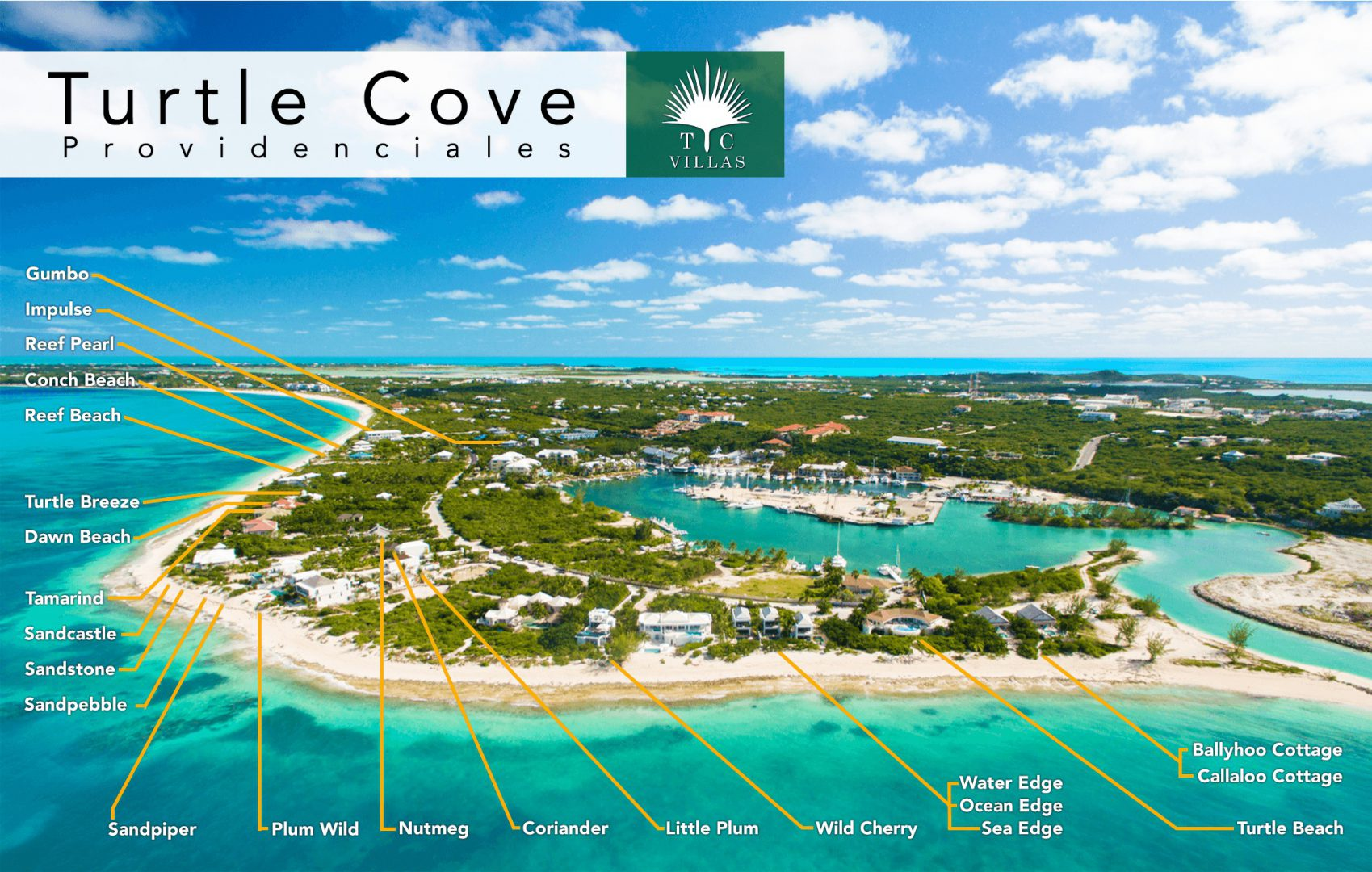 Maps Of Our Vacation Rentals In Turks And Caicos Tc Villas