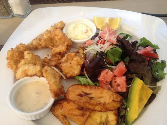 Conch Fritters at Mr. Grouper in Turks and Caicos